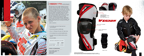fb8371c4f3 NEW FOR 2006: VISION YOUTH KNEE BRACE FROM EVS | Motocross Action ...