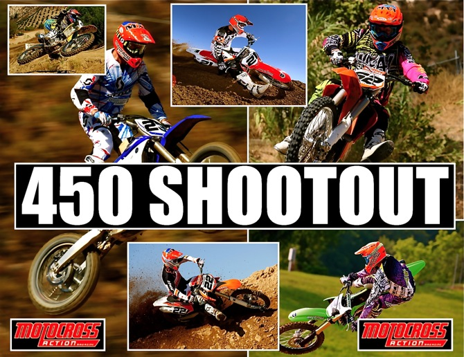 MOTOCROSS ACTION'S 2012 450 SHOOTOUT: WE TELL YOU THE THINGS THAT