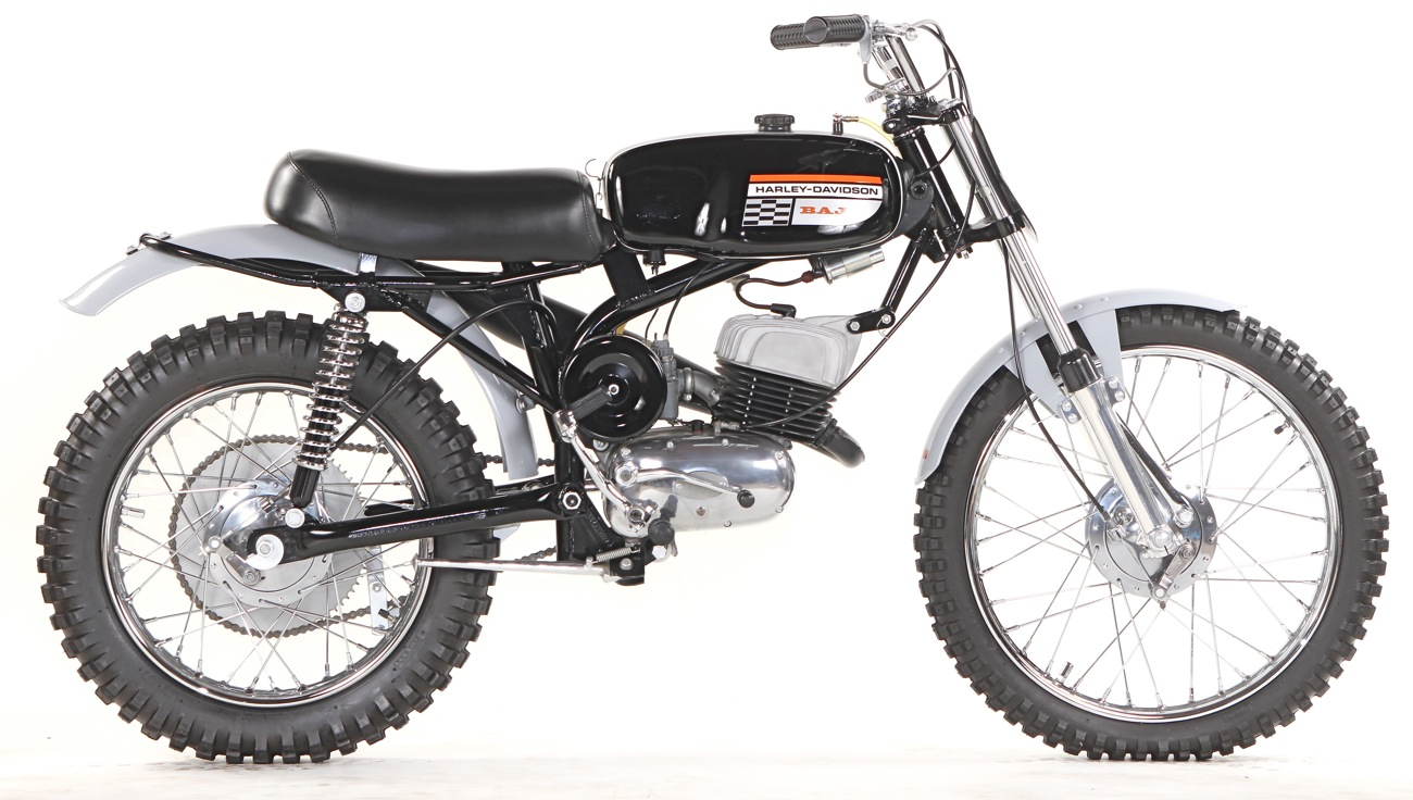 Classic motocross iron 1971 harley davidson baja 100 for 100cc yamaha dirt bike