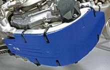 Cycra Skid Plate Blue for Yamaha