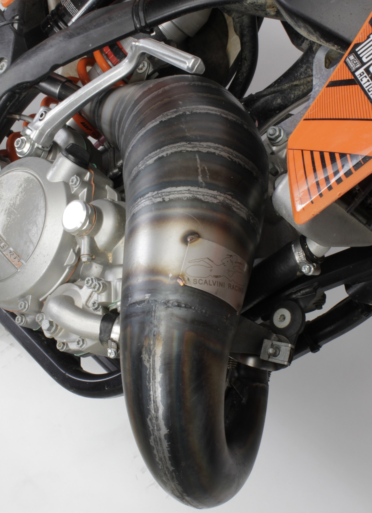 MXA TEAM TESTED: SCALVINI KTM 125SX CONE PIPE/SILENCER