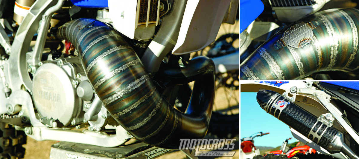 MXA TEAM TESTED SCALVINI YAMAHA YZ250 CONE PIPE Motocross