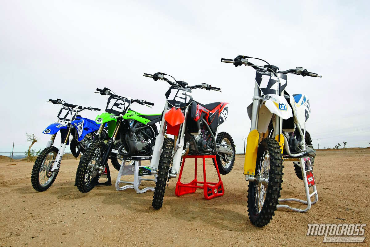 MXA'S 85cc SHOOTOUT: TC85 vs  KX85 vs  85SX vs  YZ85