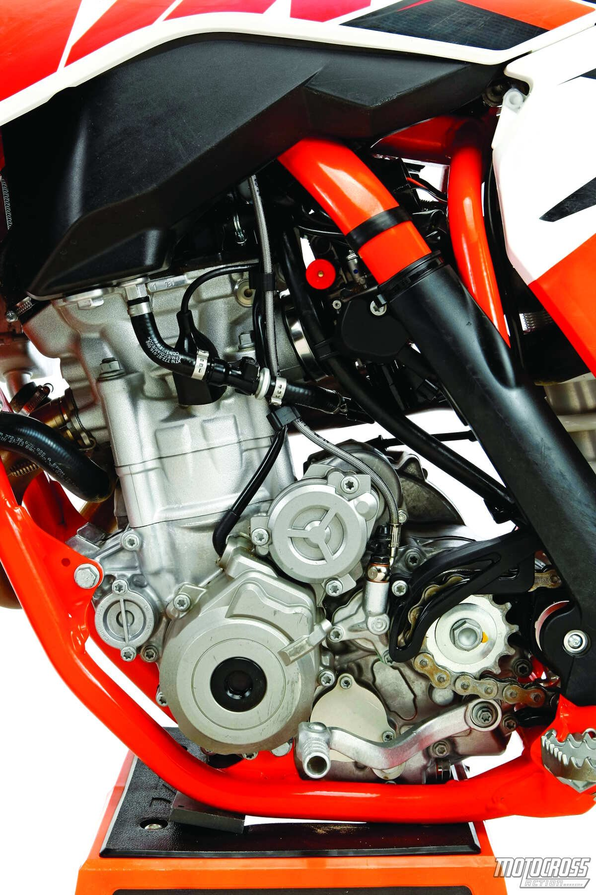 Powermonger: The 2015 KTM 250SXF produces the most horsepower in the class.  It's also