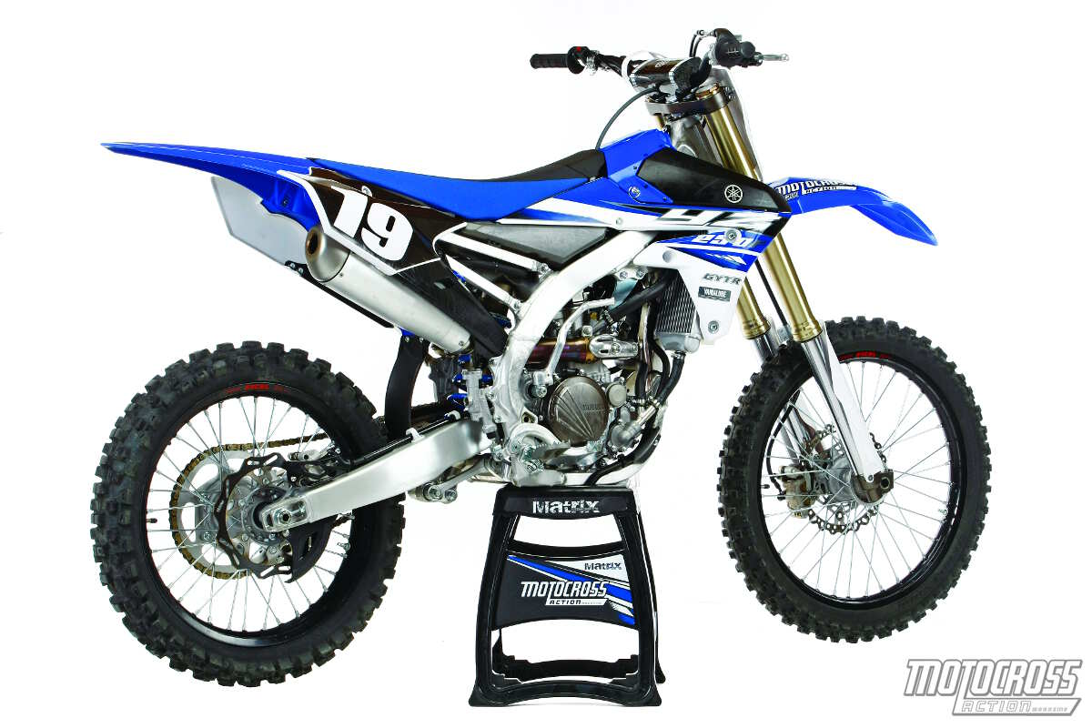 Something borrowed: Visually, the 2015 YZ250F doesn't appear all that  different from