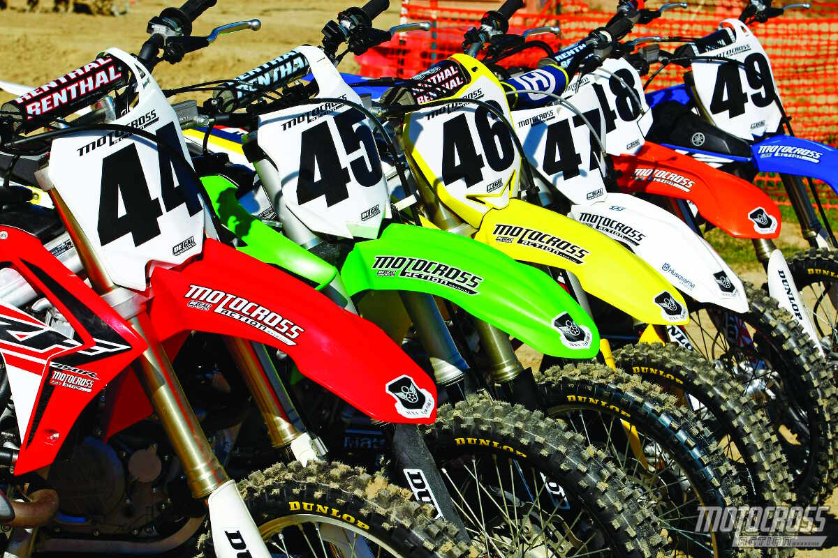 2015 Mxa 450 Shootout The Needy Disgruntled Motocross Honda Dirt Bikes 250cc Action Magazine