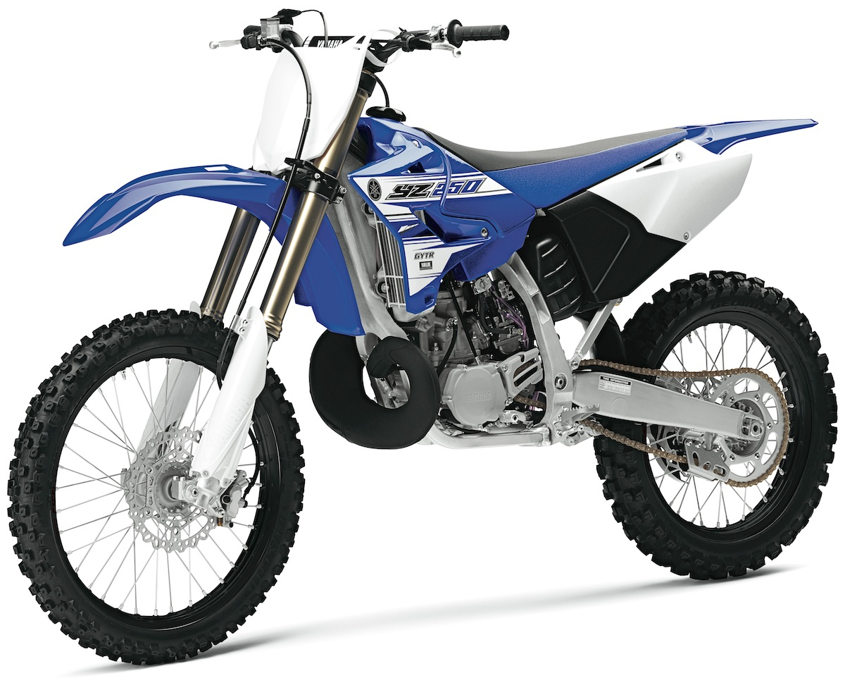 Mxa 250 two stroke shootout husky ktm yamaha motocross for Yamaha 250 four stroke