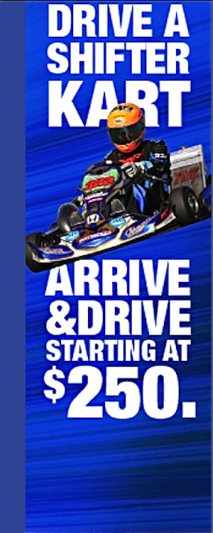 WIDE OPEN! YOUR CHANCE TO DRIVE A SHIFTER KART | Motocross