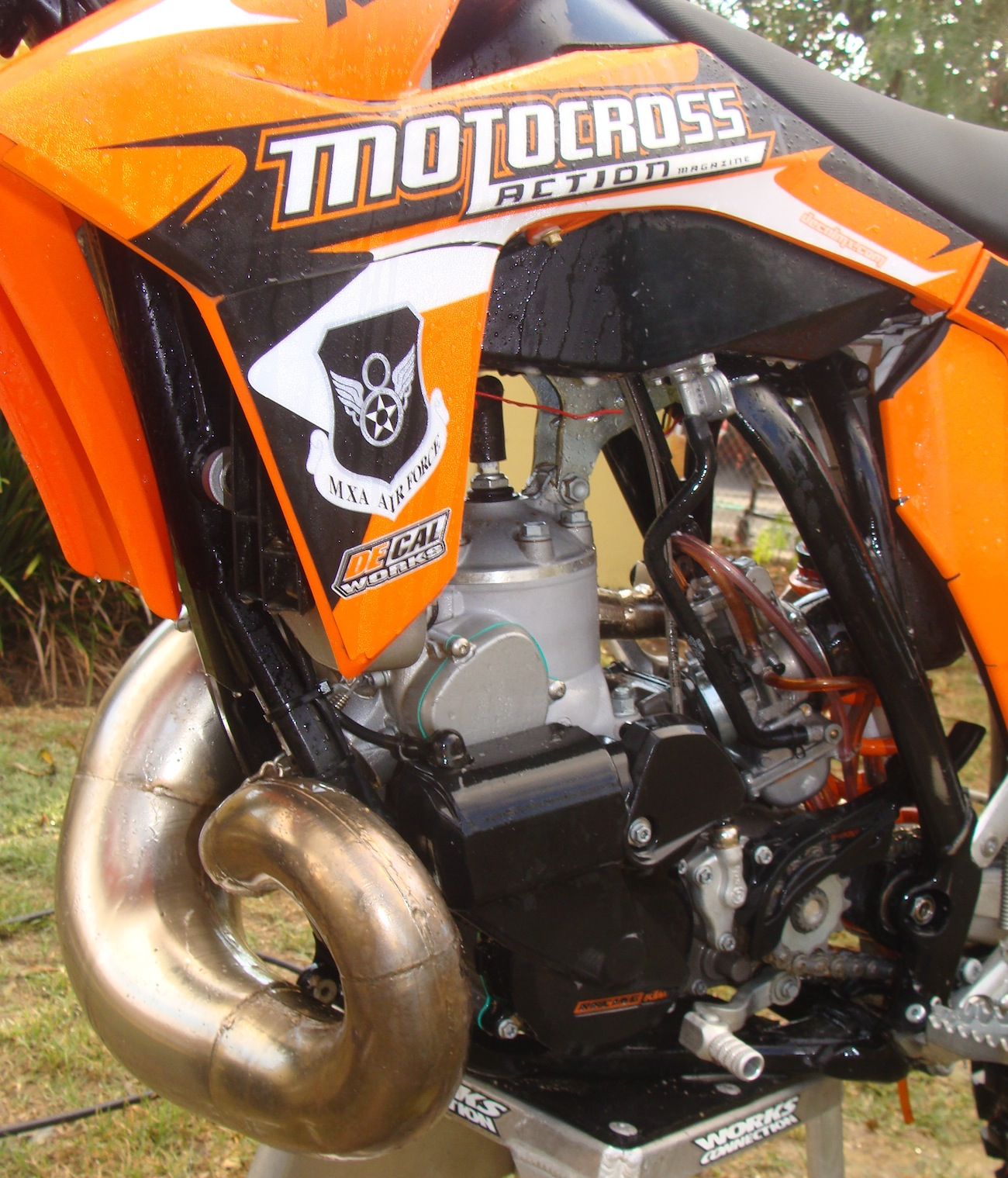 Inside Secrets Of Building A Moto Ready Ktm 300xc Two Stroke Racer 2008 Exc Engine Diagram I Was Left To Work The Kinks Outr As Rest Mxa Test Crew Members Had Lots New Bikes On Their Do Lists With Time My Hands