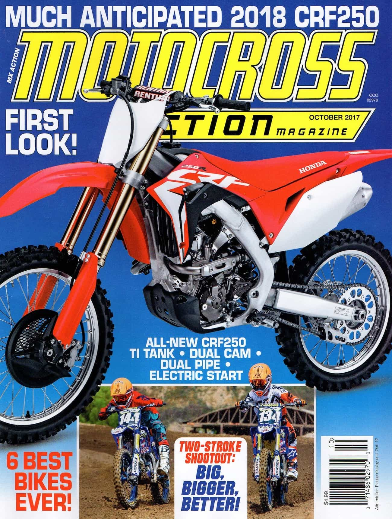 MXA MOTOCROSS RACE TEST: 2018 HONDA CRF450 | Motocross Action Magazine
