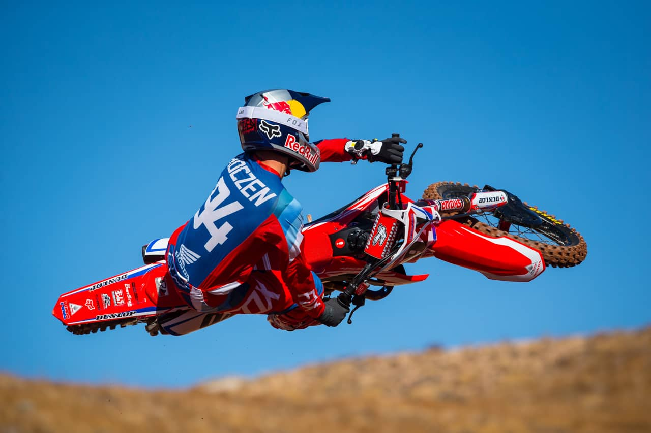 honda factory supercross team gallery motocross action magazine