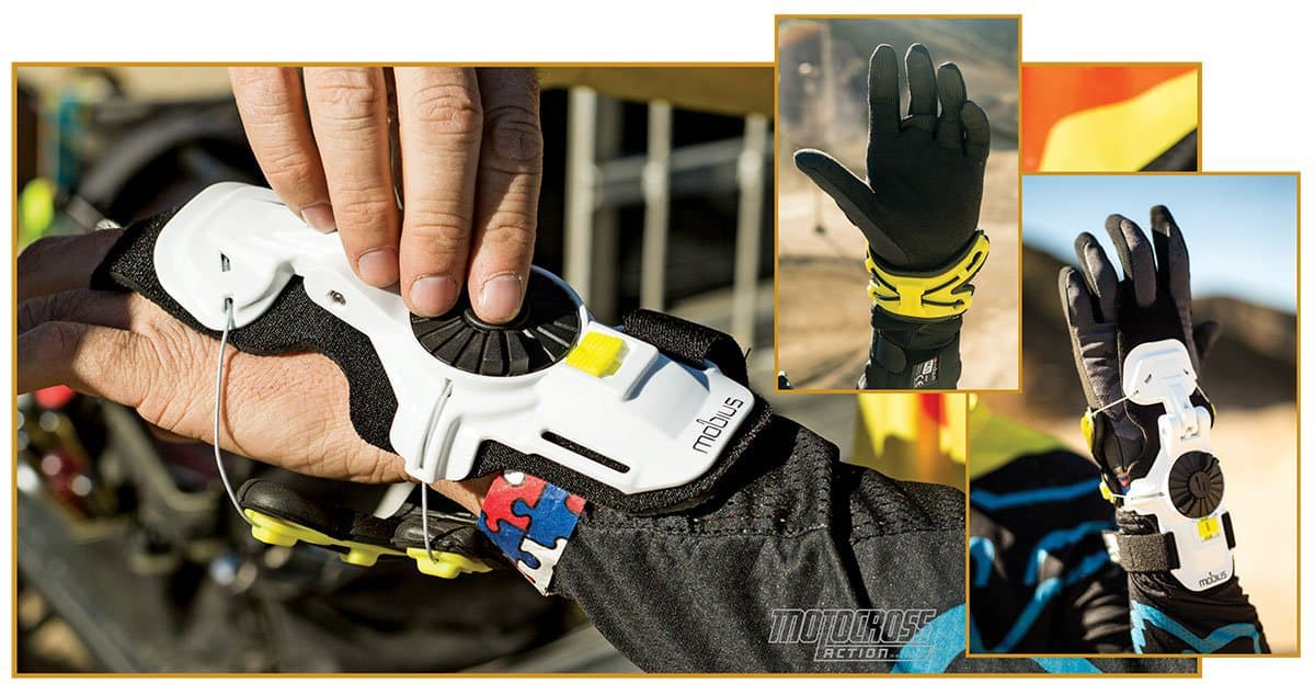 f1de04d1bf The Mobius wrist brace is used by many of the biggest names in the sport,  most notably Ken Roczen. It effectively limits the range of motion for  riders who ...