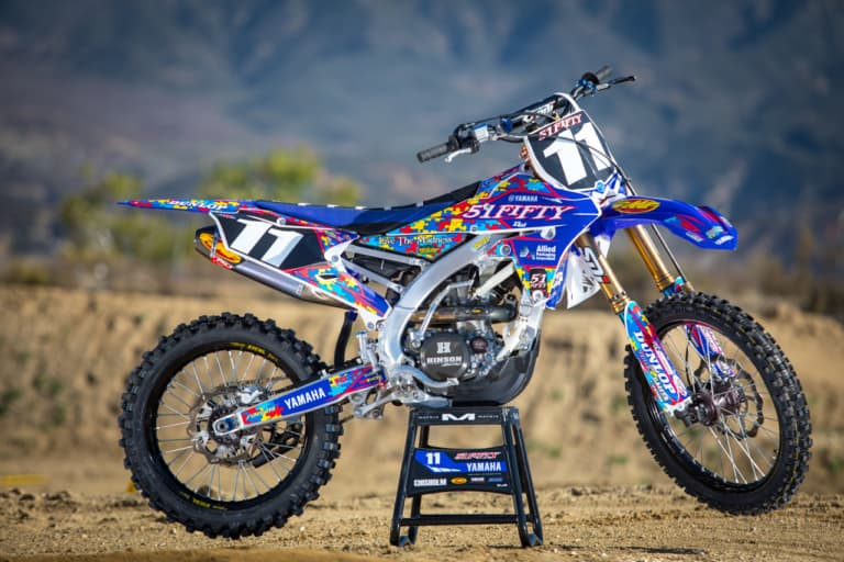 Kyle Chisholm 2018 51Fifty YZ250F engine