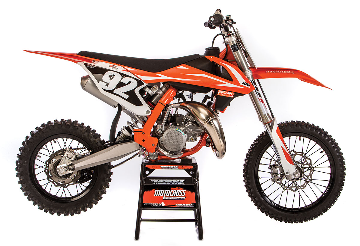 Mxa Motocross Race Test 2018 Ktm 85sx Action Magazine 65 Sx Wiring Diagram At First Glance The Looks Like A 125sxuntil You Notice That Bike And Stand Are Out Of Proportion As Minicycles Go This Is