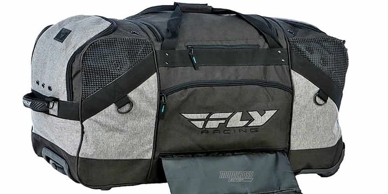Fly Racing Grande Roller Gear Bag Pack Black Grey Motocross MX ATV UTV Dirt Bike