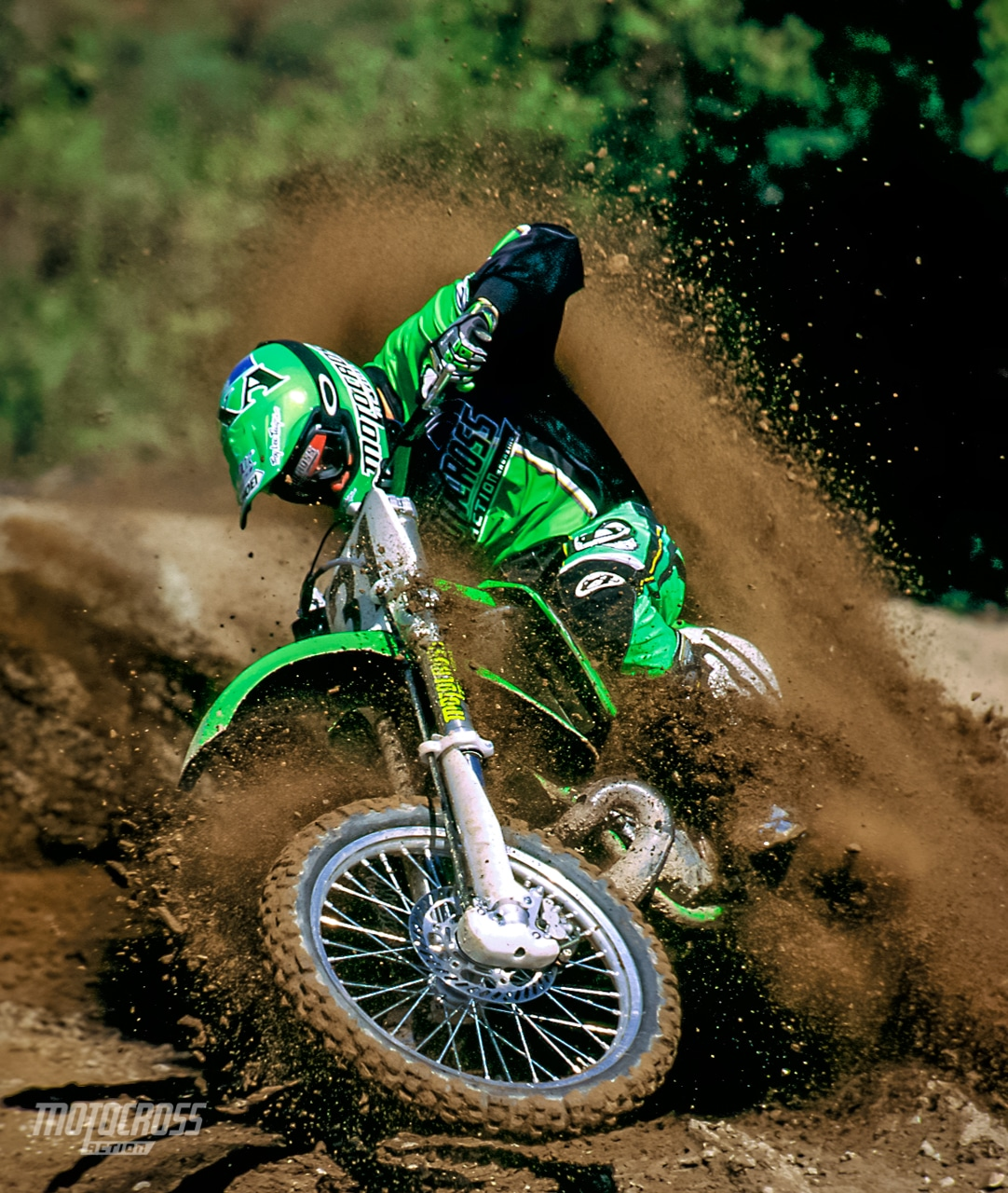 The KX250's upper chain roller has a tendency to fall off. Use thread lock.