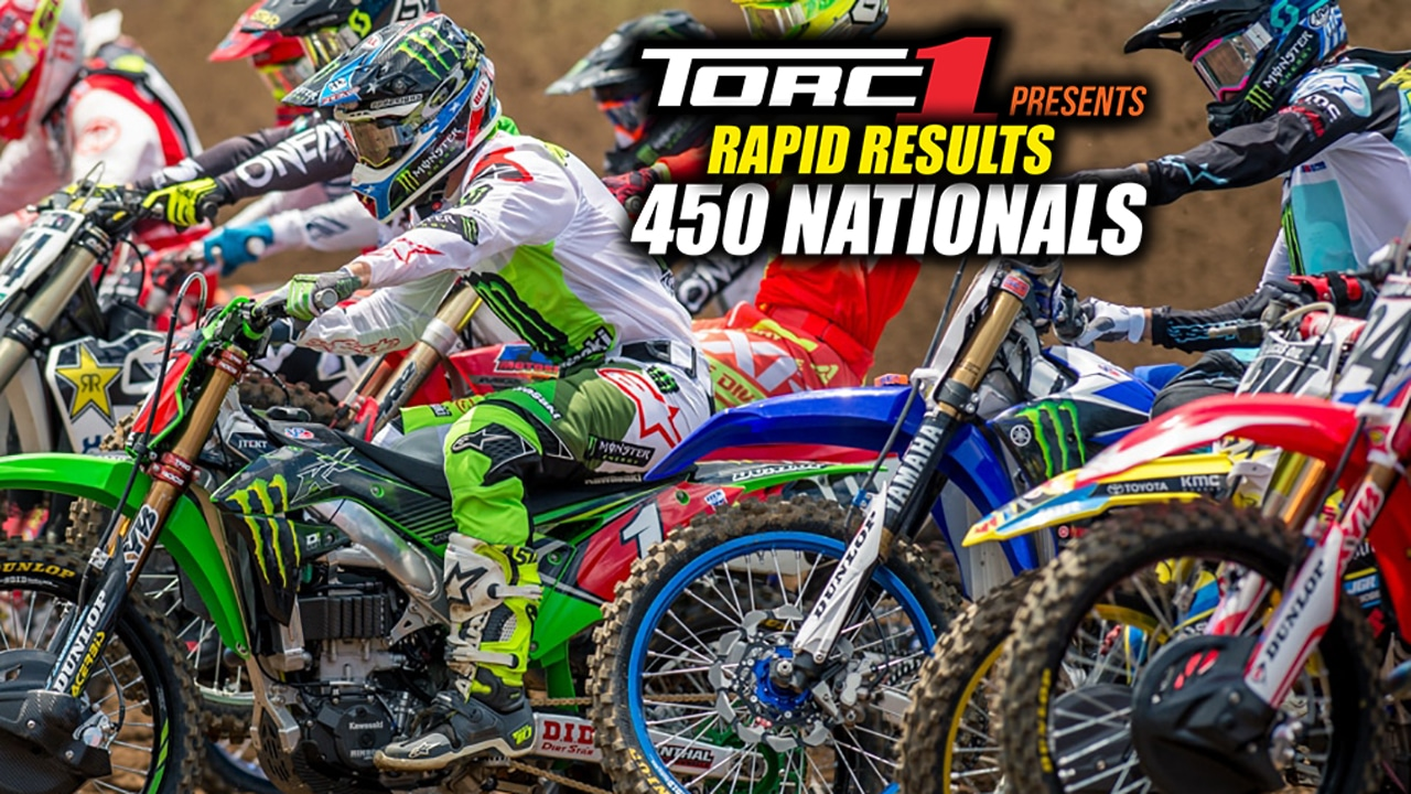 2018 UNADILLA NATIONAL | 450 OVERALL RACE RESULTS | Motocross Action