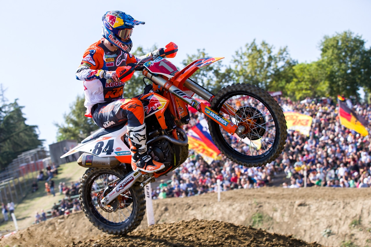 Jeffrey herlings running the number 1 plate in italy