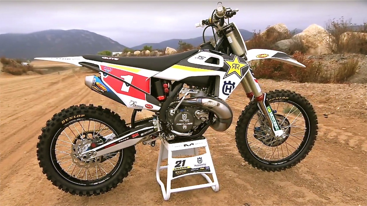 Jason Anderson On His Full Works Husqvarna Tc250 Two