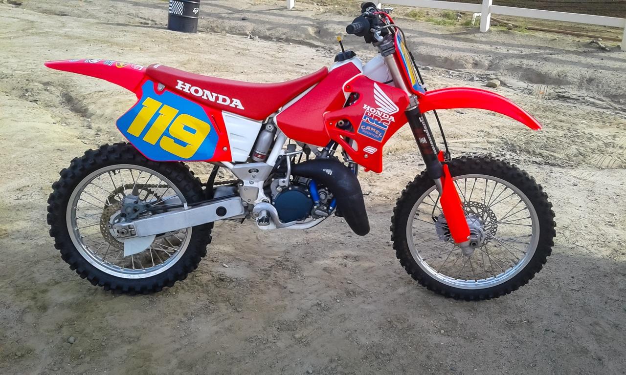 1992-1996 Schwarz Rot Motocross Sitzbezug Honda Cr 125 1993-1997
