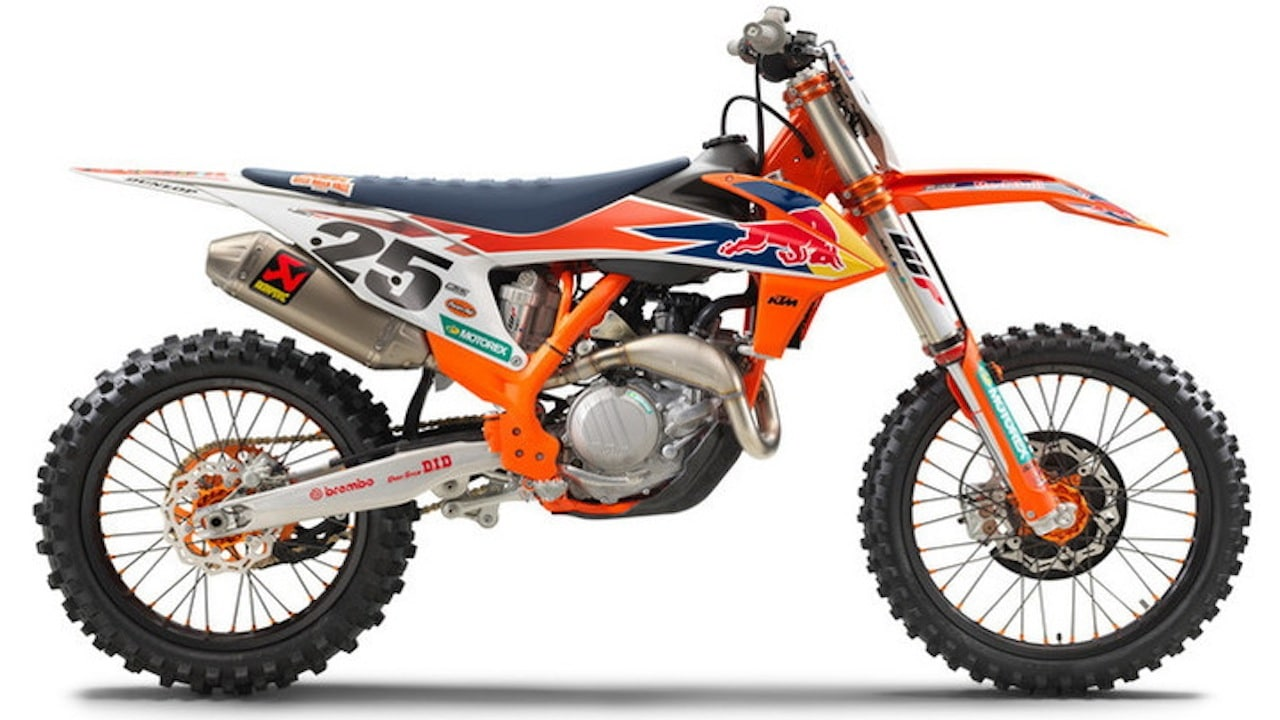 2019 1 2 ktm 450sxf factory edition motocross action. Black Bedroom Furniture Sets. Home Design Ideas