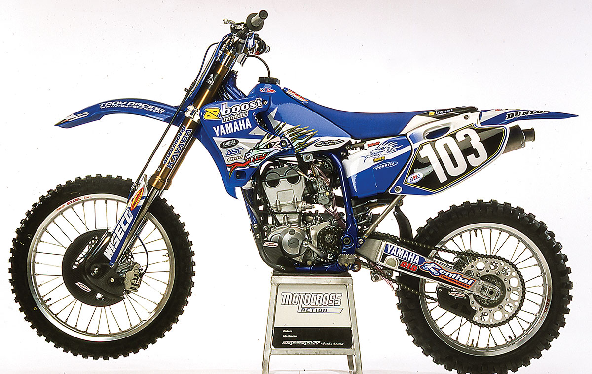 MXA RETRO TEST: WE RIDE CHAD REED'S 2002 YAMAHA OF TROY YZ250F