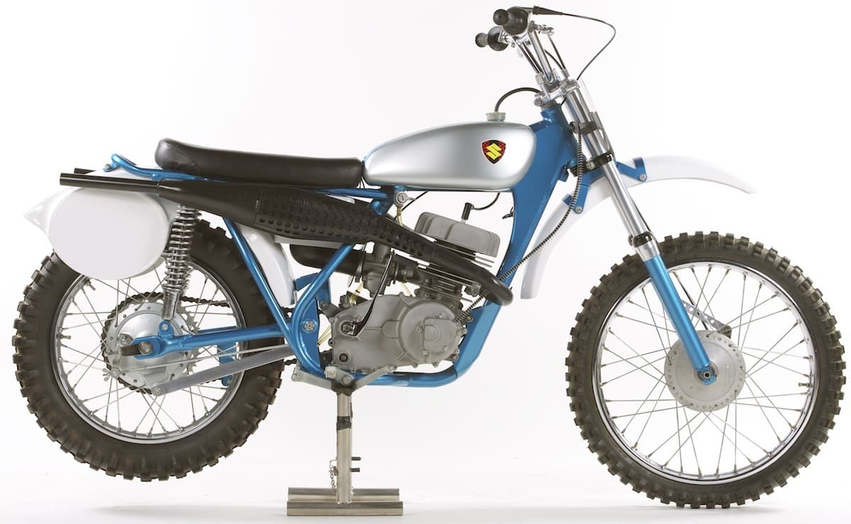 The TM250 is the first-ever Japanese motocross bike. In 1966, the Suzuki  factory sent two engineers and a road racer to Europe to begin developing a  ...