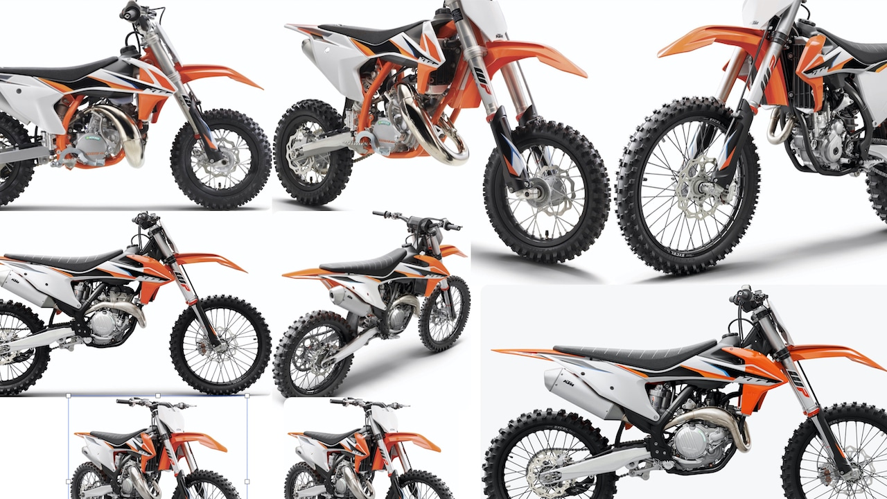 first look! 2021 ktm mini, two-stroke and four-stroke