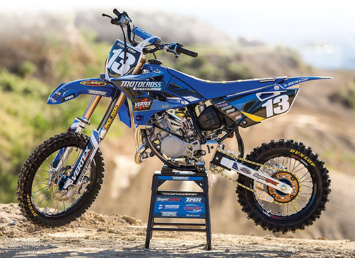 mxa builds junior a starter yamaha yz85 motocross action magazine. Black Bedroom Furniture Sets. Home Design Ideas